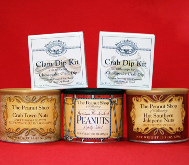 SHORE LOVER'S PEANUTS AND SEAFOOD DIP GIFT BOX
