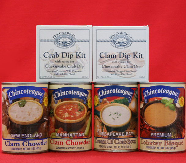 CHINCOTEAGUE AWARD WINNERS AND SEAFOOD DIPS GIFT BOX