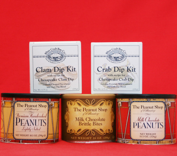 COLONIAL DRUMS AND SEAFOOD DIPS PARTY GIFT BOX