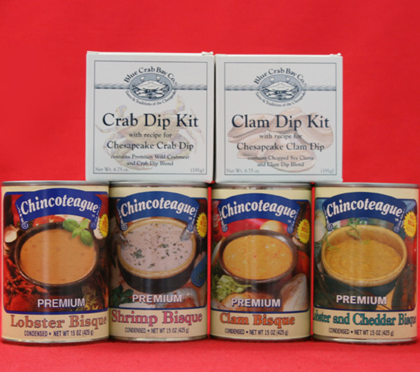 CHINCOTEAGUE BISQUES AND DIPS GIFT BOX