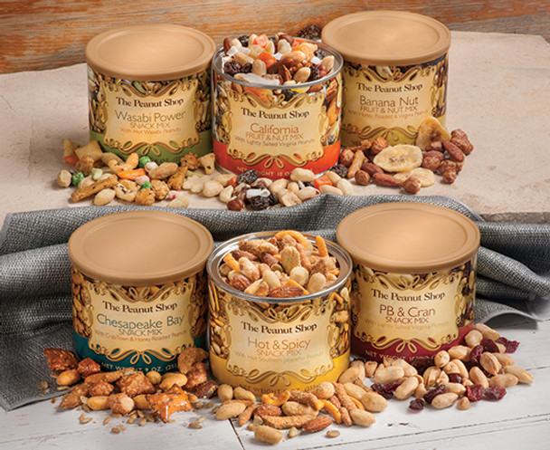 6 TIN SNACK SAMPLER
