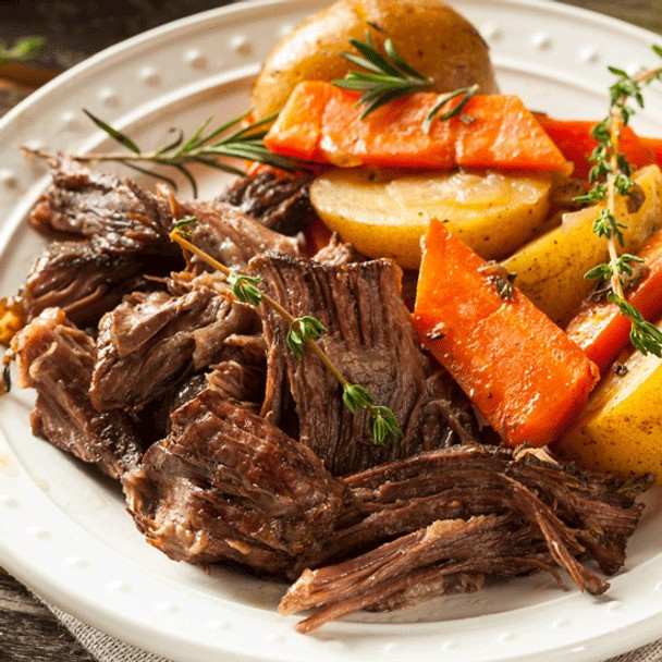 BEEF POT ROAST WITH ONIONS