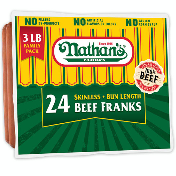 Smithfield - Nathan's Famous Hot Dogs - Price Includes Shipping