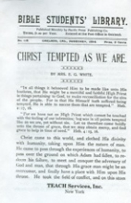 Christ Tempted As We Are