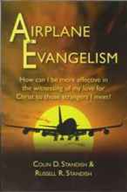 "In this book, Colin Standish has presented short accounts of some of his airplane witnessing experiences in the hope that they may inspire you to find effective ways to witness. You may say, I rarely (or never) travel by airplane. Do you travel by bus or train? Opportunities will open to you. However, you may find other ways in other circumstances to witness to strangers, such as at the supermarket or in your workplace, where you meet not only fellow workers but also those who interact with your place of business, whether they be customers, salesmen, or visitors of other kinds. You may simply be responding to a greeting such as, ""Good morning, how are you today?"" Instead of saying, ""I'm fine. How are you?"" why not reply, ""God has already greatly blessed me today. I hope He is blessing you too."" Or someone may tell you that things are not going well for him. Instead of responding, ""I'm sorry to hear that,"" why not respond, ""I will pray for you that God will help you in your dilemma."" If we think about it more carefully, there will be numerous ways we can introduce Christ into our conversations. From some of these we may be able to develop a practical way to witness further and by God's grace lead a soul to the heavenly kingdom."