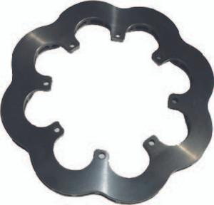Inside/ Outside Cast Steel 25 Vane Scalloped Rotor