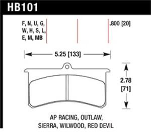 HAWK HB101U.800 DTC-70
