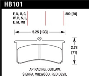 HAWK HB101G.800 DTC-60