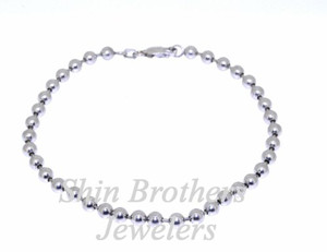 14K White Gold 9.5 Dangling Elephant Anklet Shin Brothers Inc