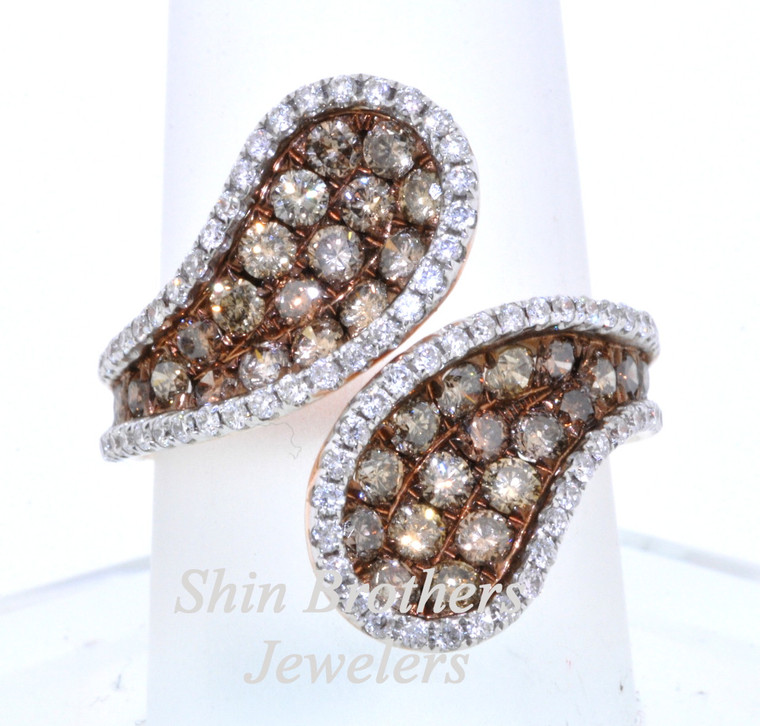 14K Pink Gold 0.45ct  Champagne Diamond Ring 11003911  | Shin Brothers*