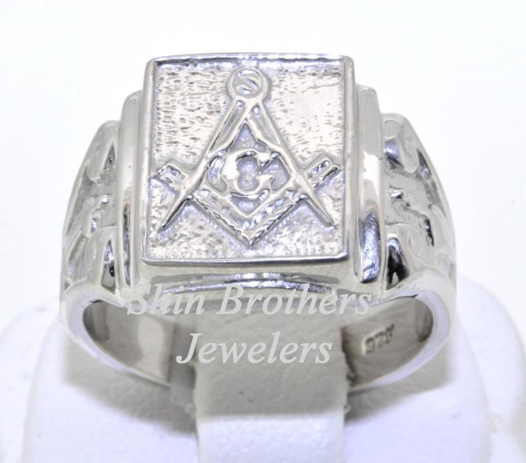 Sterling Silver Men's Masonic Ring 10016409