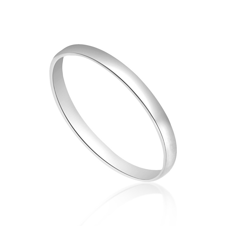 14K White Gold Wedding Band 10017020    Shin Brothers*
