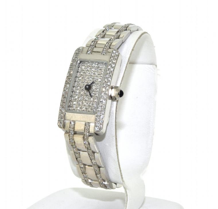 14k White Gold Diamond Geneva Ladies Fancy Watch 61000050