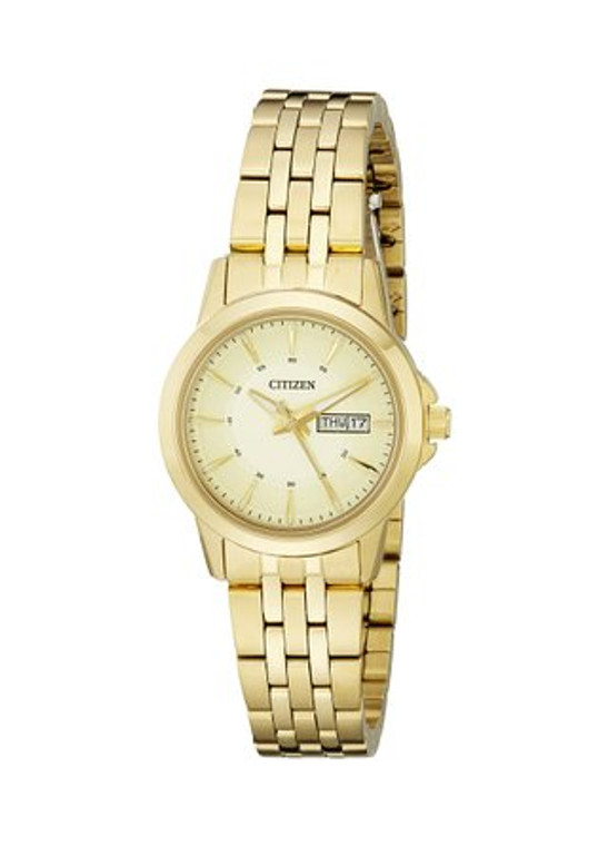 Citizen Women's EQ0603-59P Analog Display Japanese Quartz Gold Watch By Shin Brothers*