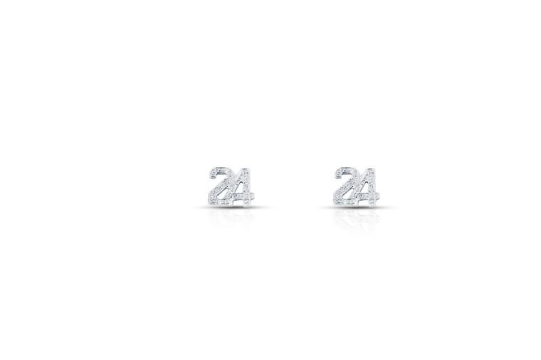 Sterling Silver Cubic Zirconia #24 Earrings