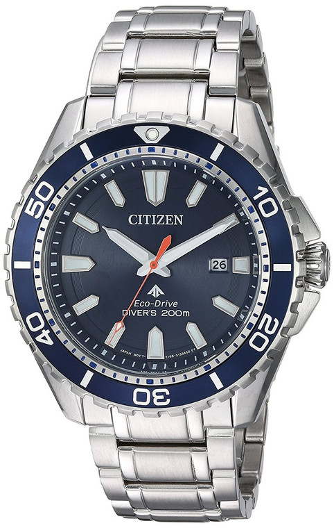 Citizen BN0191-55L Men's Eco Drive Promaster Stainless Steel Blue Dial Watch By Shin Brothers*