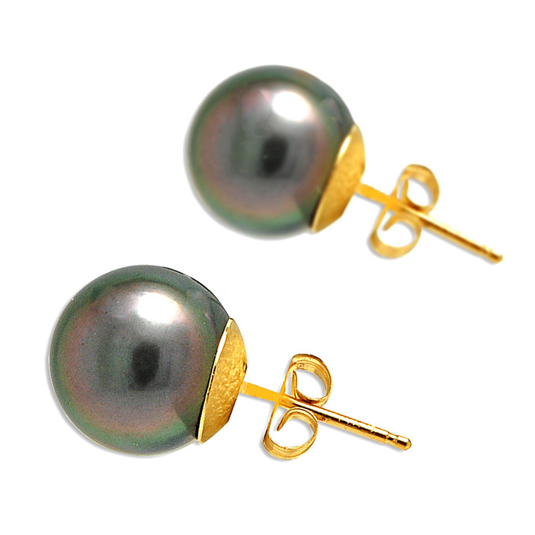 14K Yellow Gold Cultured Pearl Stud Earrings 42002856 | Shin Brothers*