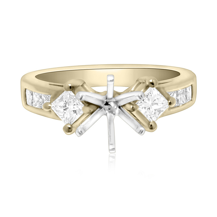 18K Yellow Gold 0.92 ct Diamond Engagement Ring Setting 11000377    By Shin Brothers*