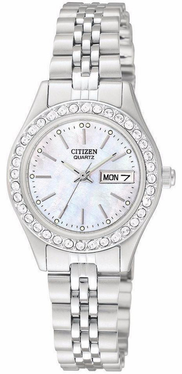 Citizen Women's EQ0530-51D Analog Display Japanese Quartz Silver Watch By Shin Brothers*