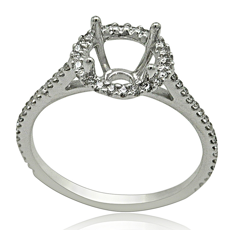 14K White Gold Diamond Engagement Ring Setting 11005932  By Shin Brothers*
