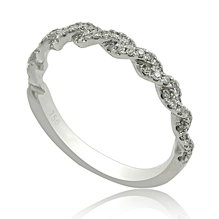 18K White Gold Diamond Wedding Band 11006040