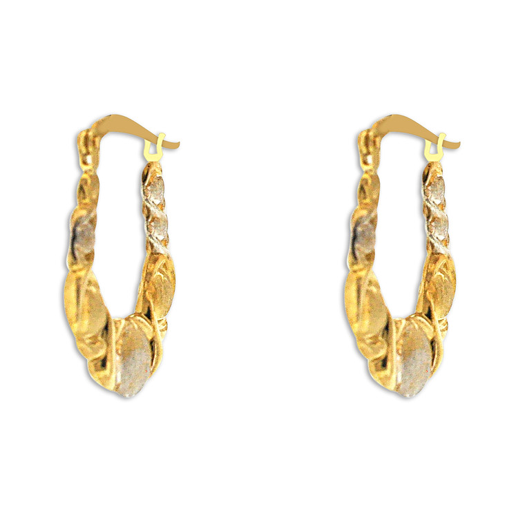 10K Gold Hugs and Kisses Hoop Earrings 49000157 By Shin Brothers Jewelers *