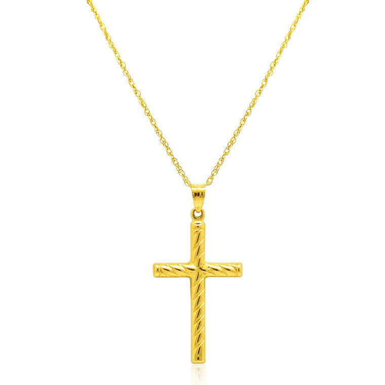 14K Yellow Gold Cross Charm | Shin Brothers*  50003503