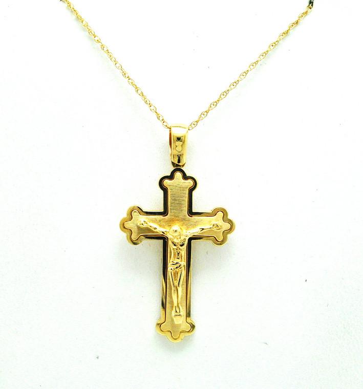 14K Yellow Gold Crucifix Cross Charm 50003532