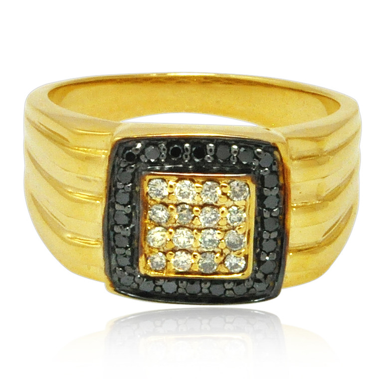 10K Yellow Gold Diamond Men's Ring 11006208 | Shin Brothers