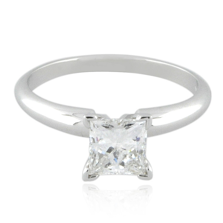 14K White Gold Yahuda Enhanced Princess Diamond Ring 11005151  | Shin Brothers*