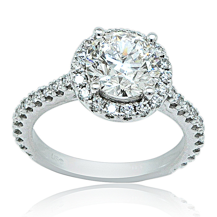 14K White Gold 2.20 Carat Diamond Engagement Ring 11006294 By Shin Brothers*