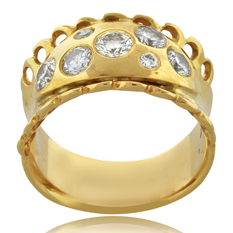 14K Yellow Gold 0.76ct Diamond Band 11006023   Shin Brothers*