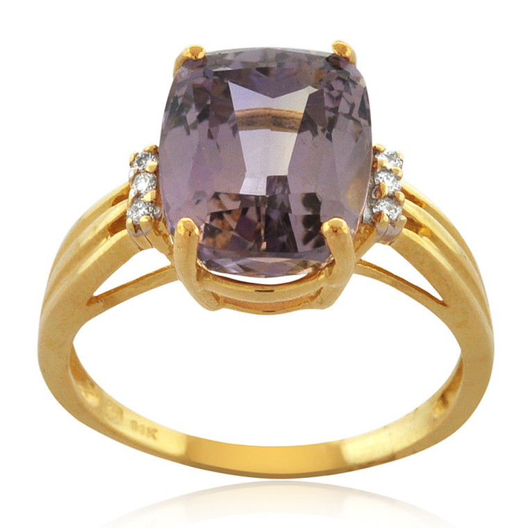 14K Yellow Gold Ametrine/Diamond Ring 12002776 | Shin Brothers*
