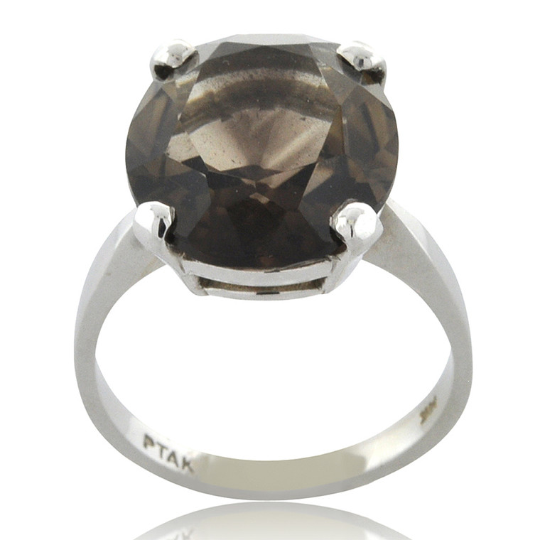 14K White Gold Smoky Topaz Ring 12000580 | Shin Brothers*