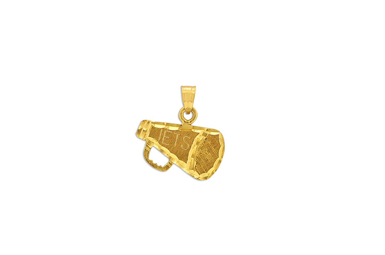 14K Yellow Gold Jets Megaphone Charm 50000065 | Shin Brothers*