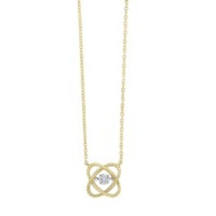 """10K Yellow Gold 0.05ct. Diamond Pendant With 18"""" Chain 39000188   Shin Brothers*"""