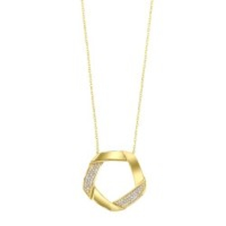 "14K Yellow Gold 0.17ct. Diamond Pendant With 18"" Chain 31000972 