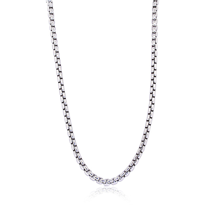 """Sterling Silver 18"""" Round Box Chain 83010902 