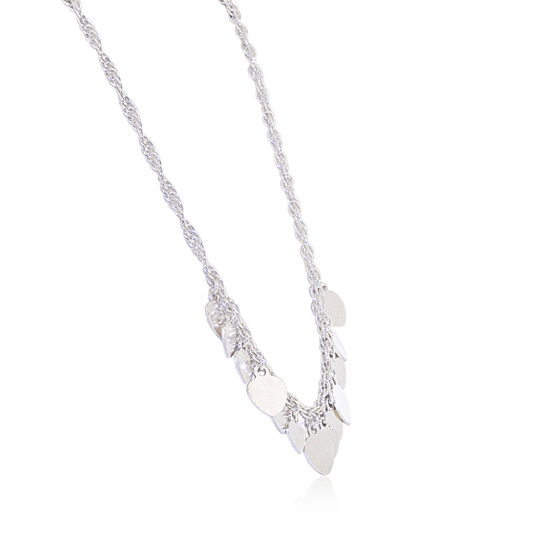 Sterling Silver Dangling Hearts Necklace 83010904 | Shin Brothers*