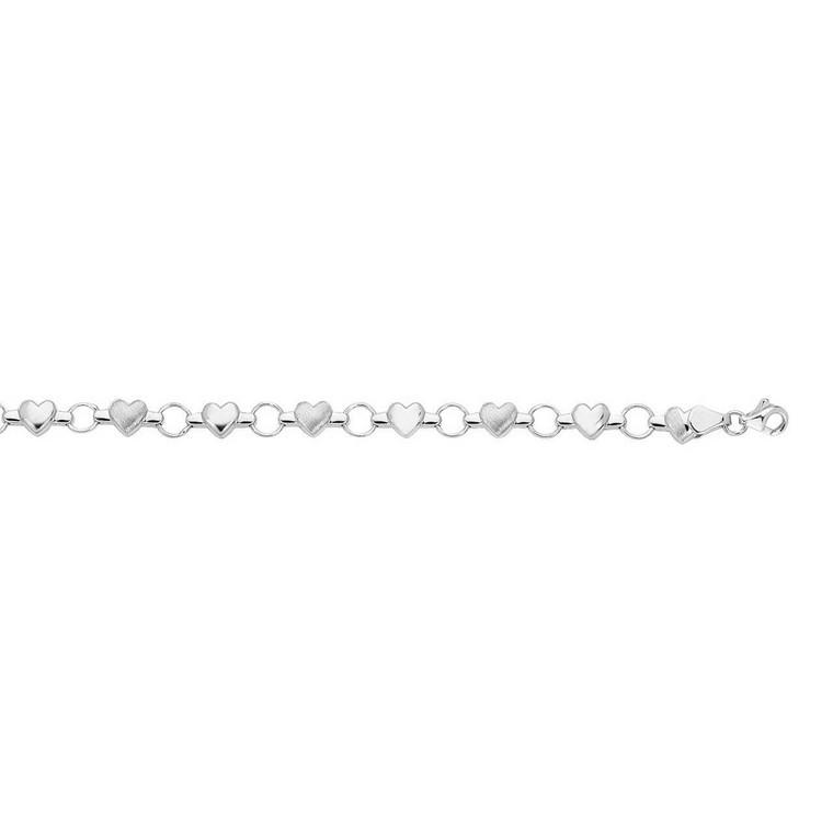 14K White Gold Heart Bracelet 20001511 | Shin Brothers*