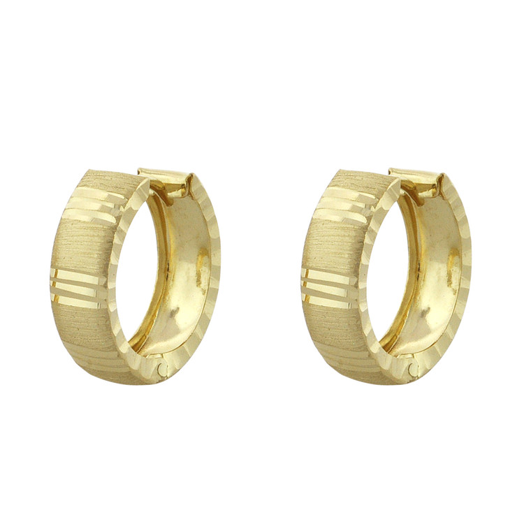 14K Yellow Gold Huggie Hoop Earrings 40002769 | Shin Brothers*