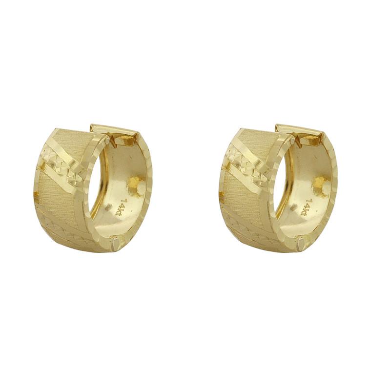 14K Yellow Gold Huggie Hoop Earrings 40002770 | Shin Brothers*