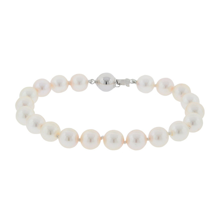 Cultured Pearl Bracelet with 14K White Gold Clasp 22000829 | Shin Brothers*