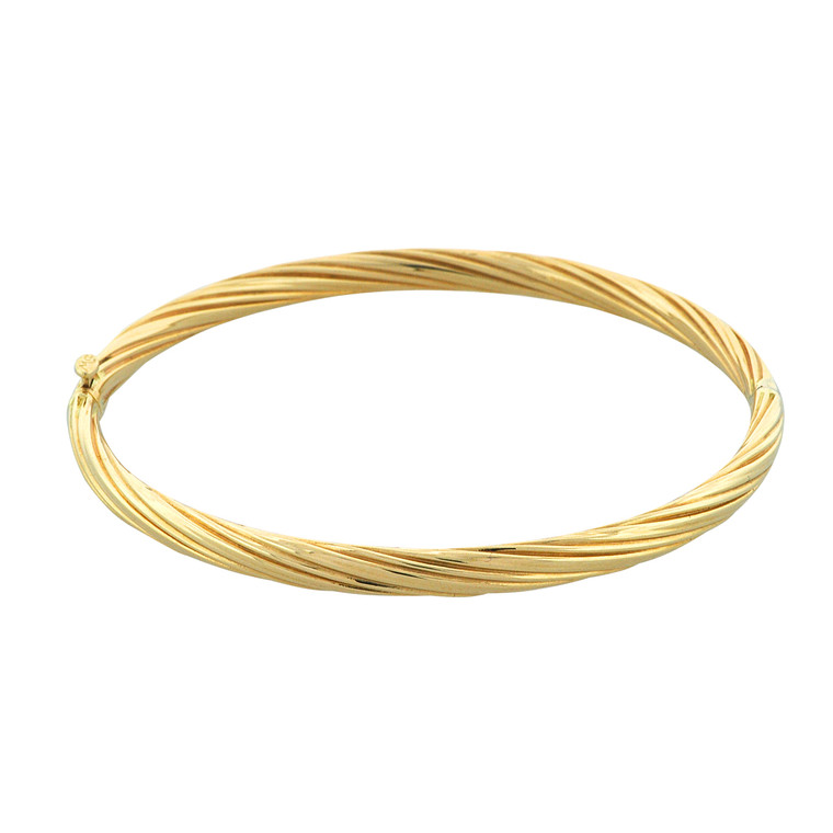 14K Yellow Gold Twist Bangle 23000200 | Shin Brothers*