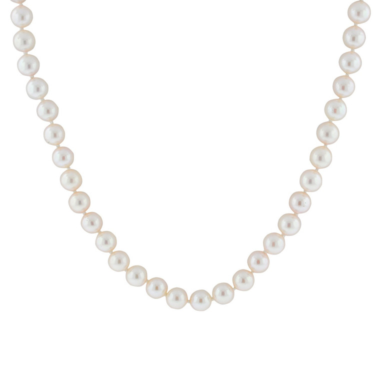 Cultured Pearl Necklace with 14K White Gold Clasp 32000583 | Shin Brothers*