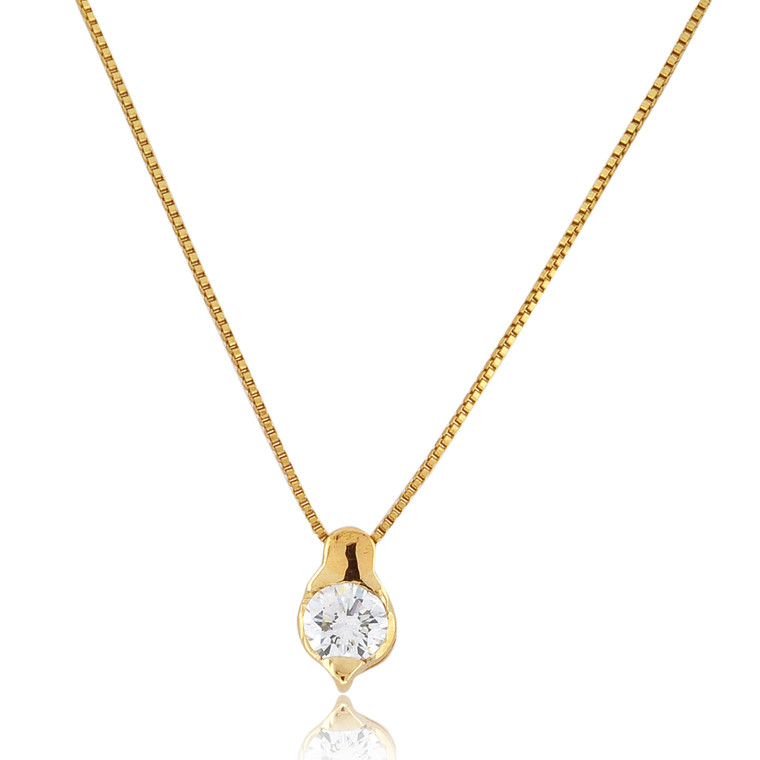 18K Yellow Gold 0.50ctw Single Diamond Charm 51002010 | Shin Brothers*