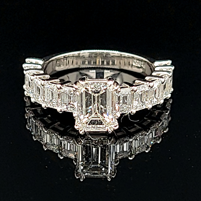 Platinum Diamond Engagement With GIA Certificate Ring 11005828 | Shin Brothers*