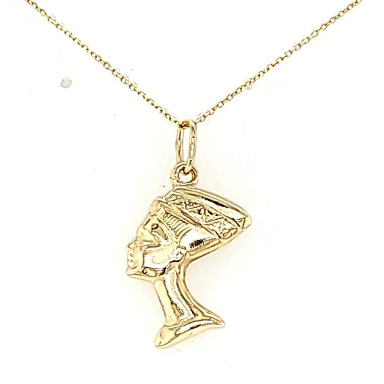 14K Yellow Gold Nefertiti Pendant 50003812 | Shin Brothers*