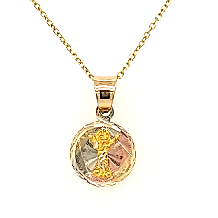 14K Tricolor Gold Diamond Cut Angel Charm 50003786 | Shin Brothers*