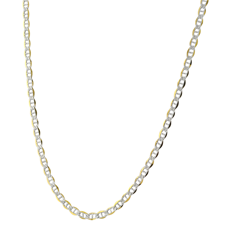 """14K Two Tone Gold 20"""" Mariner Chain 30003746 
